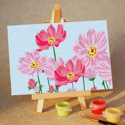 Картина по номерам 10х15 «Весенние цветы»