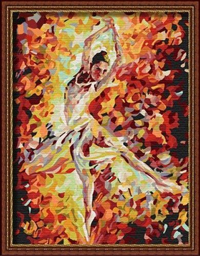 Картина по номерам 30х40 «Балерина»