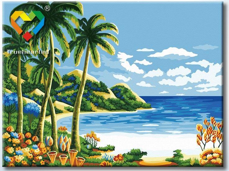 Картина по номерам 30х40 «Райский уголок»