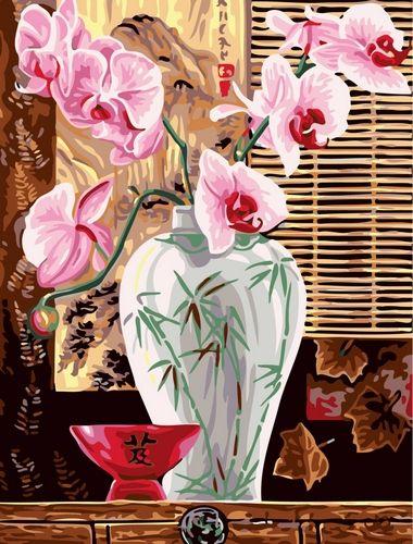 Картина по номерам 30х40 «Розовые орхидеи»
