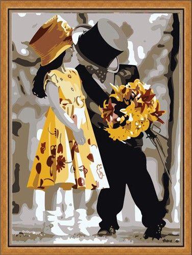 Картина по номерам 30х40 «Жених и невеста»