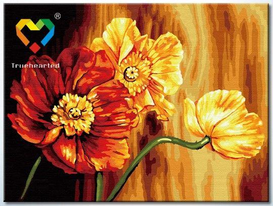Картина по номерам 30х40 «Знойные цветы»