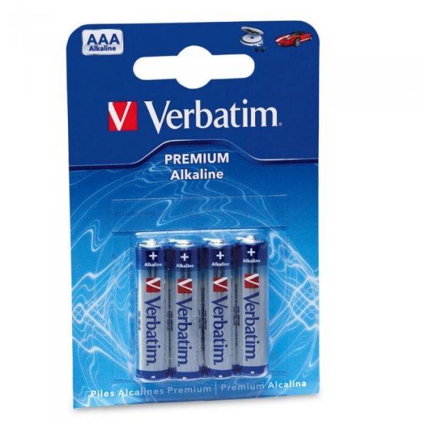 Батарейки «Verbatim» Alkaline AAA блистер 4 шт.