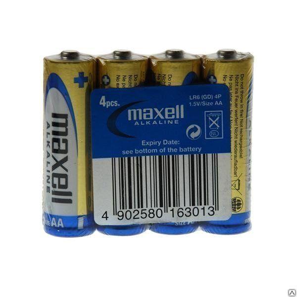 Батарейки «MAXELL» Alkaline AA, 4 шт.