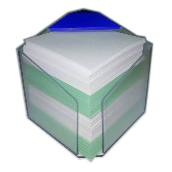 Блок для заметок «Bicolor» 85*85*85 мм, цветной, в пластиковом боксе