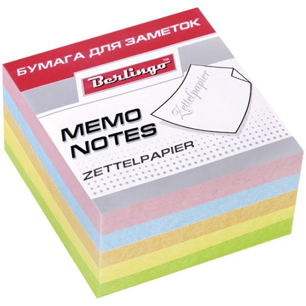 Блок для заметок «Standard» 9*9*4,5 см, цветной