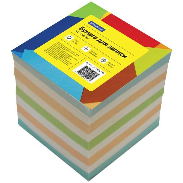 Блок для заметок на склейке «OfficeSpace», 9*9*9 см, цветной
