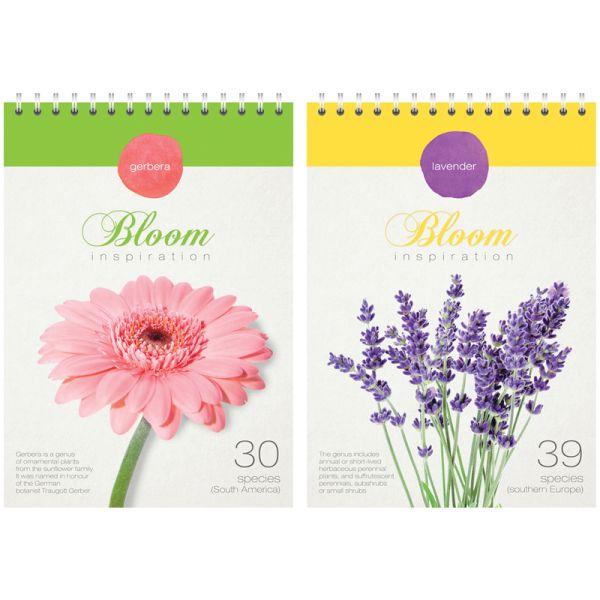 Блокнот А5, 80 листов, на гребне «Цветы — Bloom inspiration»
