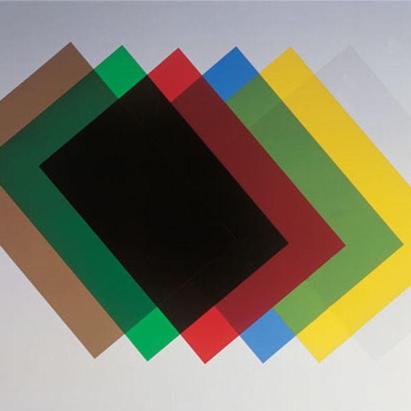 Обложка для переплета А4, прозрачная цветная, 100 шт.