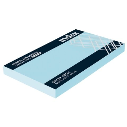 Бумага для заметок с липким слоем, 125х75 мм «INDEX»
