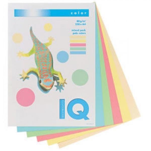 Бумага «IQ COLOR», набор пастель, 80 г/м2, А4