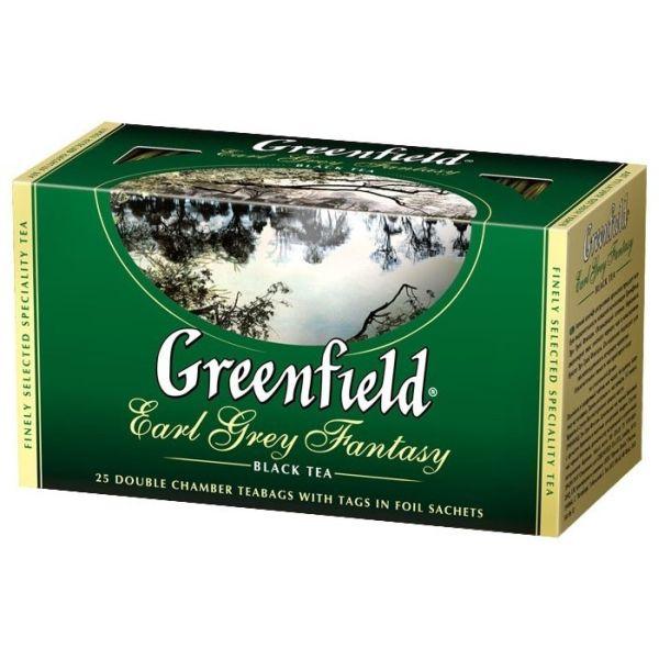 Чай GREENFIELD «Earl Grey Fantasy» черный, в пакетиках