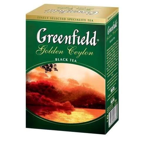 Чай GREENFIELD «Golden Ceylon» черный байховый