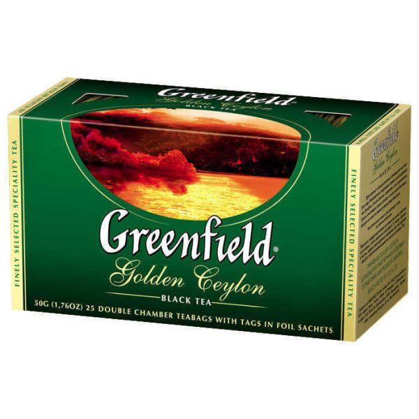 Чай GREENFIELD «Golden Ceylon» черный, в пакетиках
