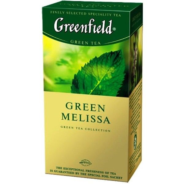 Чай GREENFIELD «Green Melissa» зеленый, в пакетиках