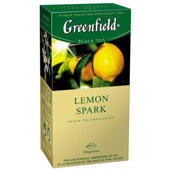 Чай GREENFIELD «Lemon Spark» черный, в пакетиках