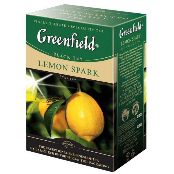 Чай GREENFIELD «Lemon Spark» черный байховый