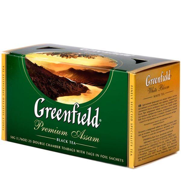 Чай GREENFIELD «Premium Assam» черный, в пакетиках