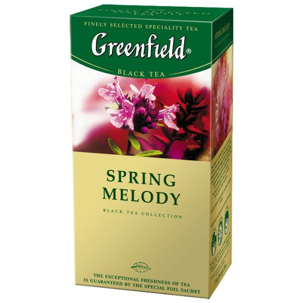 Чай GREENFIELD «Spring Melody» черный, в пакетиках