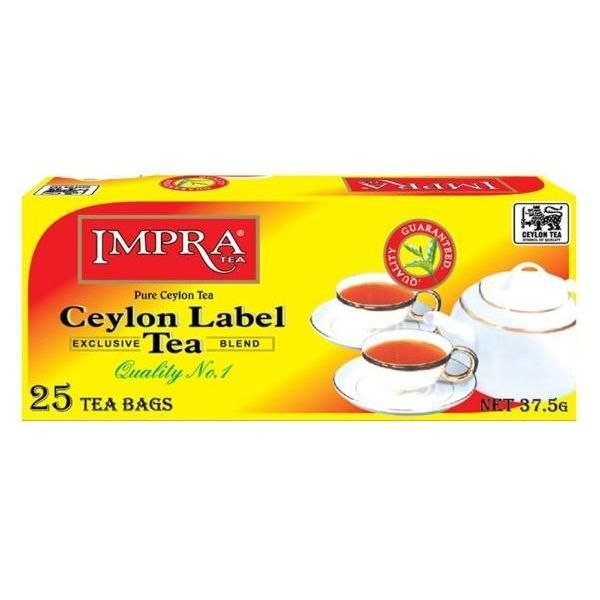 Чай IMPRA «CEYLON LABEL TEA» черный, в пакетиках
