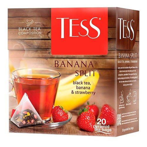 Чай TESS «Banana Split» черный, в пирамидках