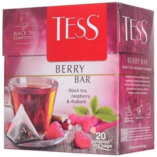 Чай TESS «Berry Bar» черный, в пирамидках