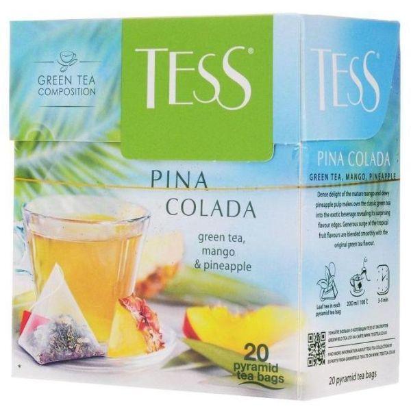 Чай TESS «Pina Colada» зеленый, в пирамидках