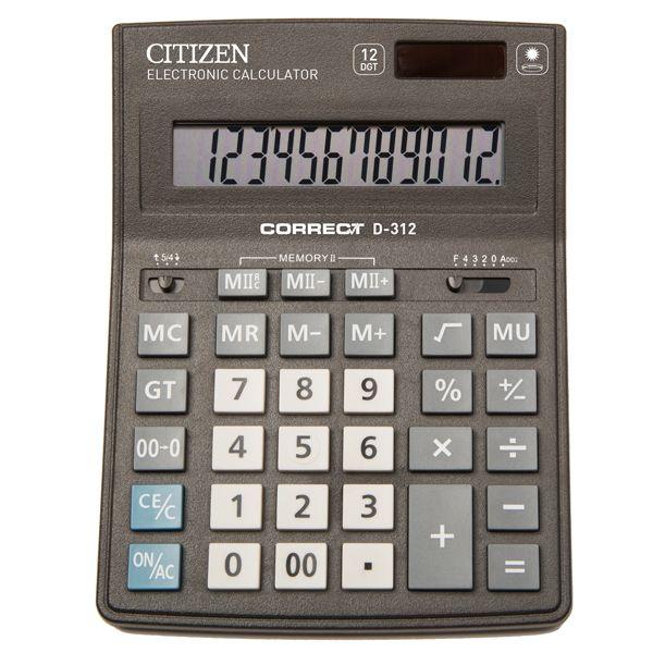 Калькулятор 12 разрядный CITIZEN Correct D-312