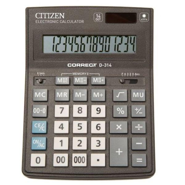 Калькулятор 14 разрядный CITIZEN Correct D-314
