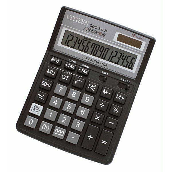 Калькулятор 16 разрядный CITIZEN SDC-395N