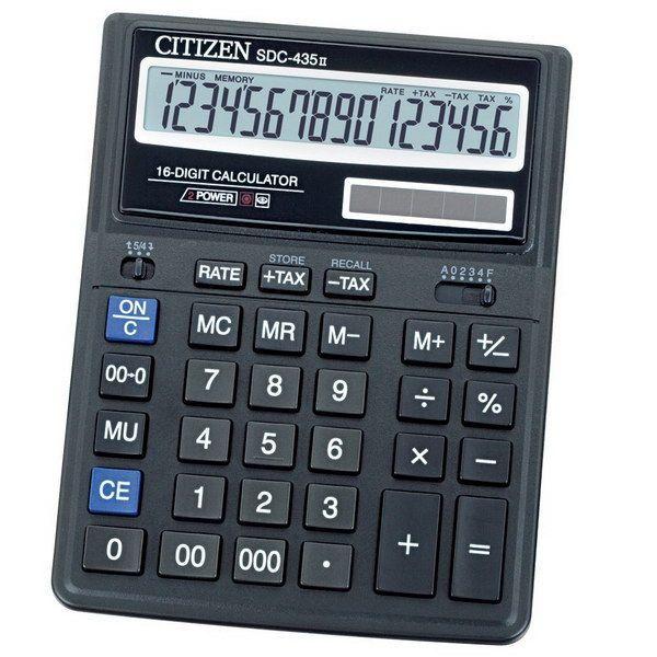 Калькулятор 16 разрядный CITIZEN SDC-435N
