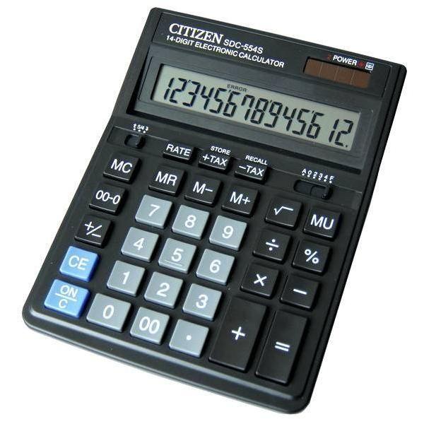 Калькулятор 14 разрядный CITIZEN SDC-554S