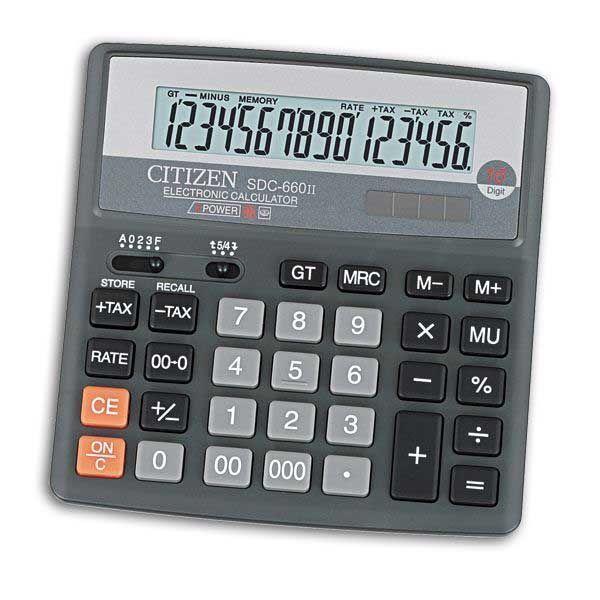 Калькулятор 16 разрядный CITIZEN SDC-660II