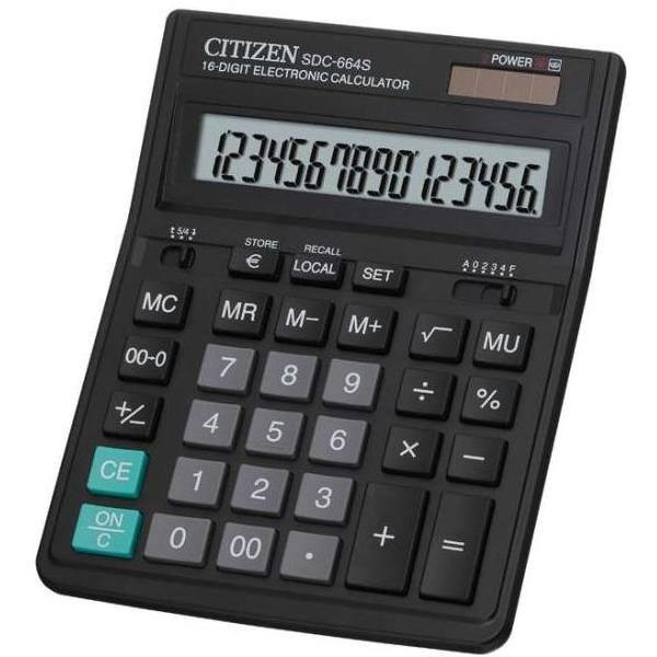 Калькулятор 16 разрядный CITIZEN SDC-664S