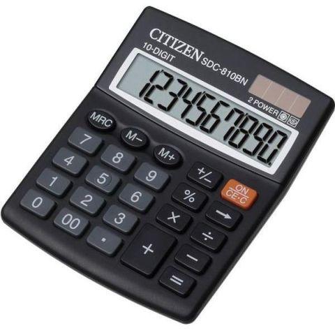 Калькулятор 10 разрядный CITIZEN SDC-810BN