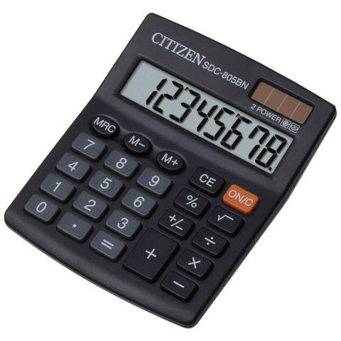 Калькулятор 8 разрядный CITIZEN SDC-805BN