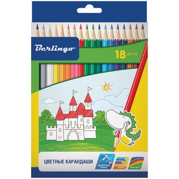 Карандаши цветные «Замки», шестигранные