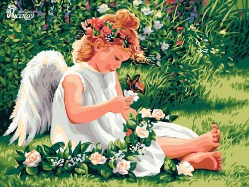 Картина по номерам 30х40 «Ангел»