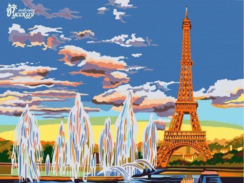 Картина по номерам 30х40 «Франция»