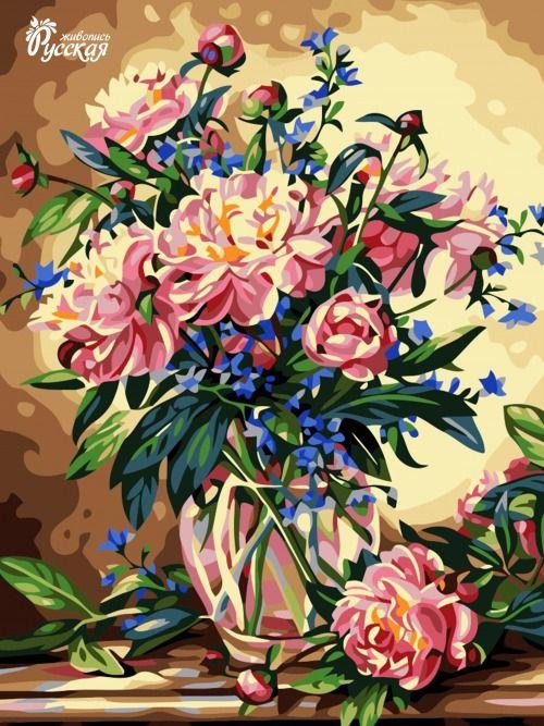 Картина по номерам 30х40 «Прекрасный букет»