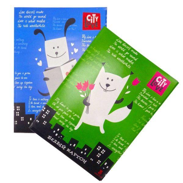 Картон белый А4, 8 листов, мелованный «ACTION!»