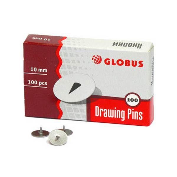 Кнопки, диаметр 10 мм, 100 штук «ГЛОБУС»
