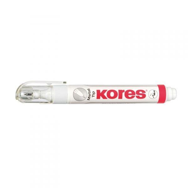 Корректор-ручка Metal Tip «KORES»