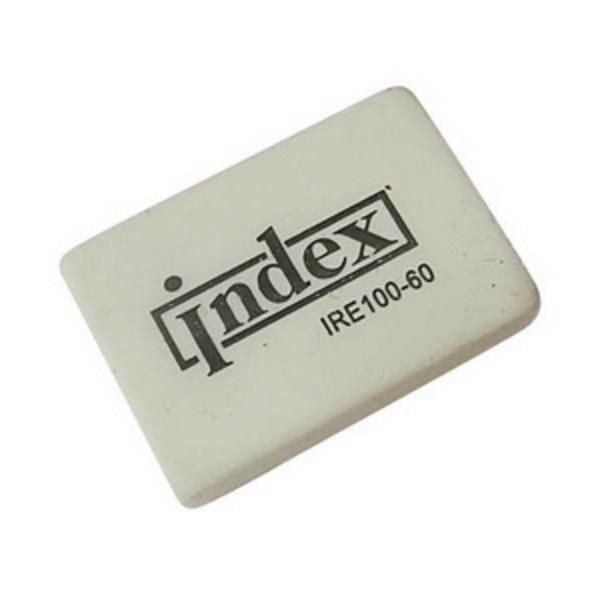 Ластик каучуковый белый 31*21*8 мм «INDEX»