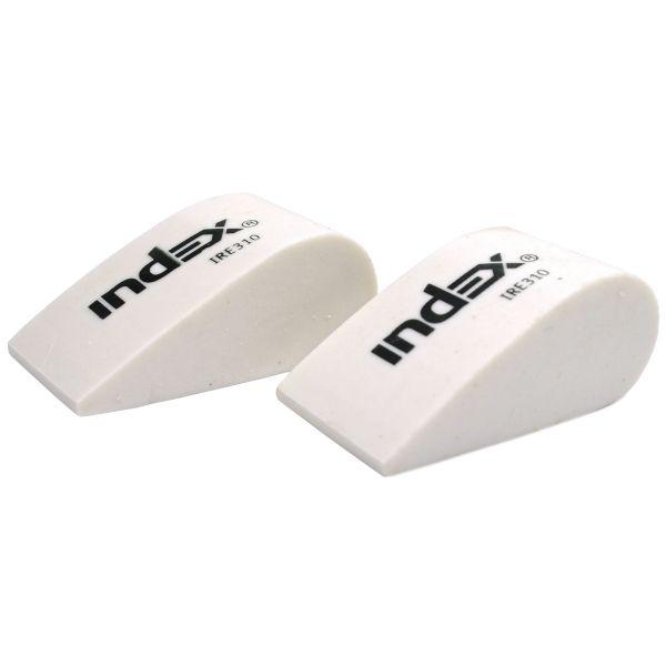 Ластик каучуковый белый КАПЛЯ «INDEX»