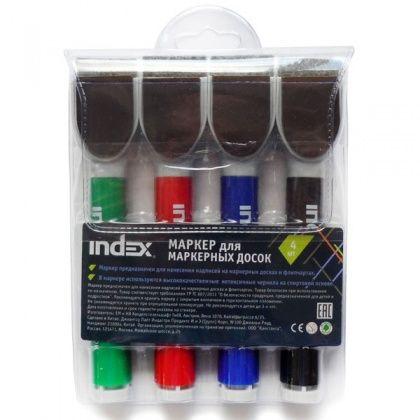 Набор маркеров для доски «INDEX» IMW545/4