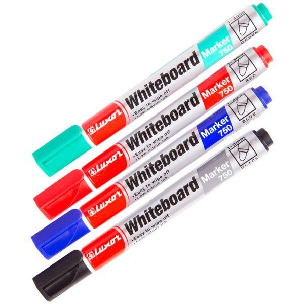Набор маркеров для доски «Luxor 750», 4 цвета
