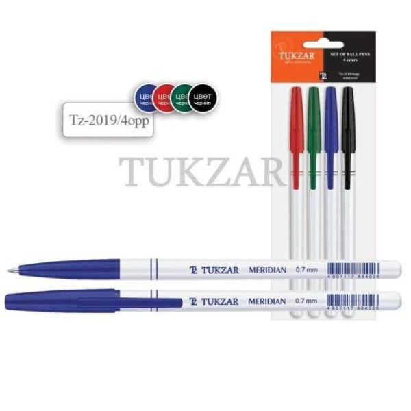 Набор шариковых ручек «MERIDIAN», 4 цвета «TUKZAR»