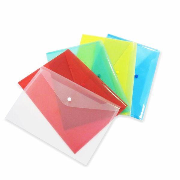 Папка-конверт с кнопкой A4, прозрачная «БИЗНЕС ЦЕНТР»