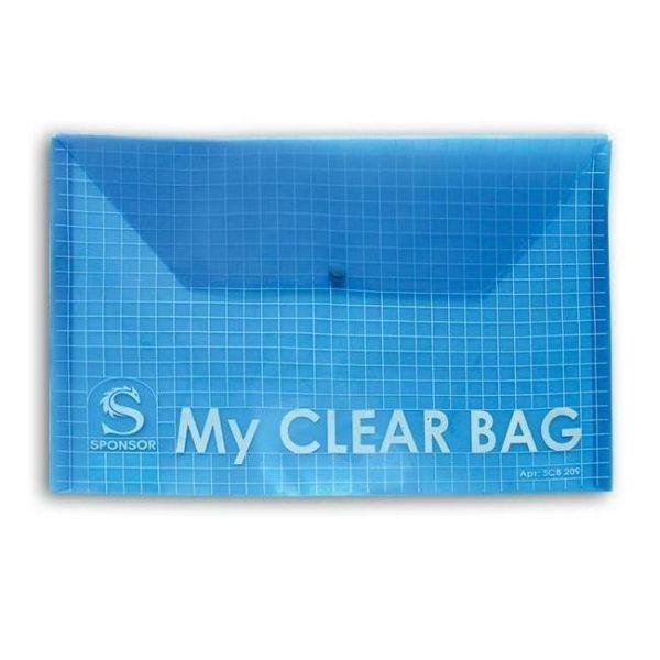 Папка-конверт с кнопкой А5, MY CLEAR BAG «SPONSOR»